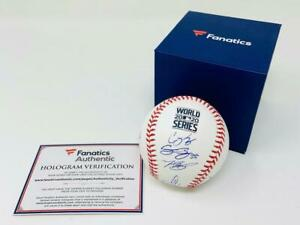 DODGERS Team Autographed Authentic 2020 World Series Baseball FANATICS LE 220