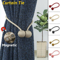 Ball Magnetic Curtain Tiebacks Hooks Rope Tie Backs Holder Holdbacks Home Decor