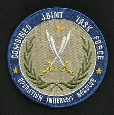 Combined Joint Task Force Operation Inherent Resolve Fight ISIS Military Patch