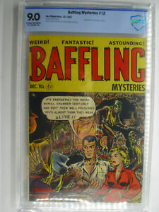 Baffling Mysteries #12, CBCS, VF/NM, 9.0, Cream/Off-White Pages