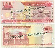 DOMINICAN REPUBLIC NOTE 1000 PESOS ORO 2004 SPECIMEN P 173s3 UNC