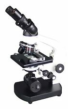 2500x Binocular Compound LED Battery Microscope w 100x Oil -3D Stage & Slide Kit