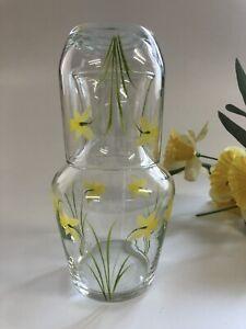Individually hand painted Daffodil Carafe Set