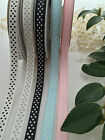 High quality Grosgrain Ribbon with Dots 10mm wide per Meter
