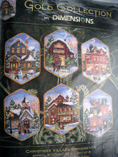 Dimensions GOLD COLLECTION Counted Tree Ornament Kit,CHRISTMAS VILLAGE,USA,8785
