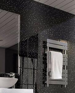 Black Sparkle UPVC Bathroom Cladding Plastic Kitchen Wall Panels 8mm