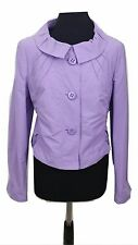 BETTY BARCLAY Jacket Size 12 Purple Lilac Vintage Cotton Blend