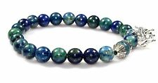 Natural Azurite Malachite Bracelet Gemstone Jewelry 8.5 MM Christmas Gift Sale