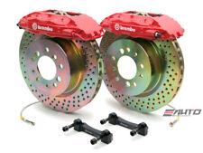 Brembo Front Gt Big Brake Kit Bbk 4piston Red 323x28 Drill Disc Tt 8n 99 06