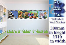 Disney's Tinkerbell Pared Adhesivo Calcomanía Rayas de película para Dormitorio de Niños Arte.