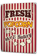 Tin Sign XXL Bar Party Popcorn cinema metal plate plaque