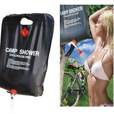 Portable Outdoor Solar Heat Shower Bag Storage Water Carrier Wt Thermometer 20L
