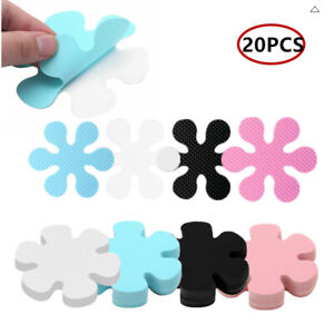 20 Pcs 10cm/4 Inch Bathtub Stickers with Flower Shaped Anti-slip Surface for Tub
