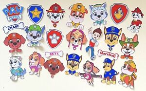 Paw Patrol Stickers Chase Skye Dogs Cartoon