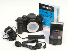MINOLTA MAXXUM DYNAX 7 film Camera + Accessories & 3600 HSD Flash