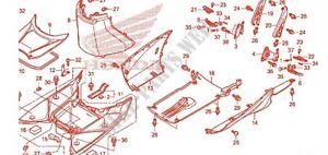 Left HAND LOWER COVER SIDE FAIRING PANEL Honda SH 125 Black Colour 2012/13/14/16