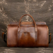 Men's Genuine Leather Vintage Shoulder Messenger Briefcase Handbag Travel Bag