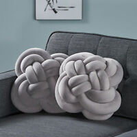 Amethyst Modern Soft Velvet Double Carrick Knot Pillows (Set of 2)