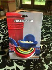Le Creuset Set of 4 Silicone Mixing Bowls Flexible Non-Stick