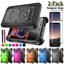 For Samsung Galaxy Note 9 Shockproof Hard Case Cover Belt Clip+ Screen Protector