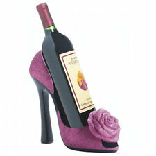 Pink Rose High Heel Shoe Wine Bottle Holder