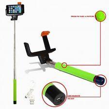 Wireless Bluetooth Mobile Phone Telescopic Monopod Camera Holder Selfie Green