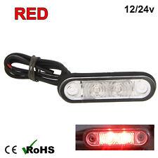 RED HELLA STYLE LED FLUSH FIT KELSA BAR MARKER LAMP LIGHT 12v 24v