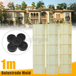 Balustrades Mold DIY Roman Column For Concrete Plaster Cement Railing Molud