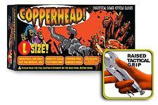 COPPERHEAD Orange Nitrile Gloves, 8 mil, Powder Free, Case of 1000 Size M Medium