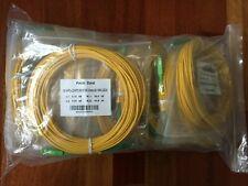LOT OF 8 x NEW SC/APC-LC/APC SM 9/125 3.0mm SX Fibre Optic Cable - 15m, LSZH