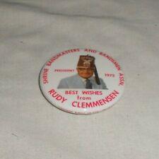 SHRINE BANDMASTERS AND BANDSMEN ASSN. 1975 RUDY CLEMMENSEN PIN BUTTON