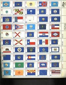 Scott 1682a 50 State Flags Sheet