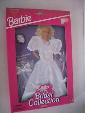Barbie Bridal Collection Fashions Easy to Dress Fancy White Brides Dress Set New