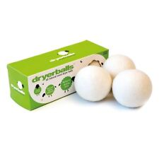 3 Dryerballs All Natural Wool Tumble Dryer Balls Energy Time Saving Softener