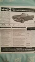 REVELL Kit 2095 '64 1/2 Mustang Convertible~Instructions Only