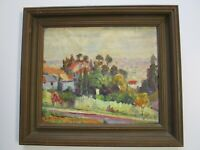 ANTIQUE PAINTING HOLLYWOOD HILLS? OLD CALIFORNIA PAINTING LOS ANGELES LANDSCAPE