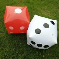 Large Inflatable Blow Up Dot Dice Kids Party Favours Funny New Pool Toys S9R7