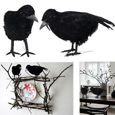 Dazzling Toys 2 Pcs Black Feathered Raven Birds Halloween Party Decoration