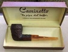 Caminetto Limited Edition King Size Straight Pipe In Rusticated Finish - X RARE
