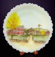 Fenton Glass Designer Series Down Home Plate & Stand Limited to 1000 MIB & COA