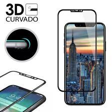"""PROTECTOR PANTALLA CRISTAL TEMPLADO PARA IPHONE X 5,8"""" 3D CURVO  NEGRO"""