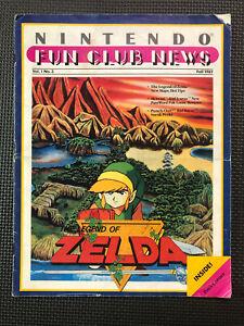 Vintage Nintendo Fun Club News NES newsletter Fall 1987 issue #3
