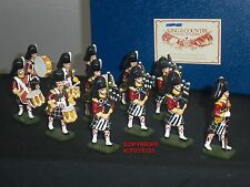 King and Country in pensione BLACKWATCH TUBO DRUM BAND METAL Toy Soldier Figure Set