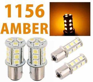 Yellow 1156 BA15S 18 SMD 5050 LED Brake Backup Turn Signal Car Light Bulb Lamp