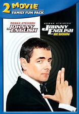 JOHNNY ENGLISH & JOHNNY ENGLISH REBORN Atkinson DVD 2014 Widescreen Reg 1 New