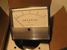 "Weston Panel Meter (Pioneer) 0-5 ACA 2034 25-500Hz 3"" x 3.5"""