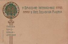 # TORINO: I  ESPOSIZIONE  INTERNAZIONALE D'ARTE DECORATIVA MODERNA 1902