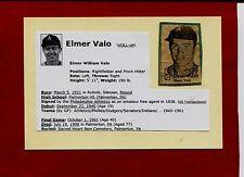 1950'S ELMER VALO-PHILADELPHIA A'S AUTOGRAPHED PHOTO W/BIO (d.1998)