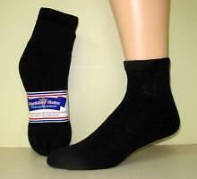 Womens diabetic quarter socks black size 9-11  3 pair
