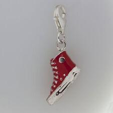 "925 Silber Charm ""Sneaker rot emailliert"""